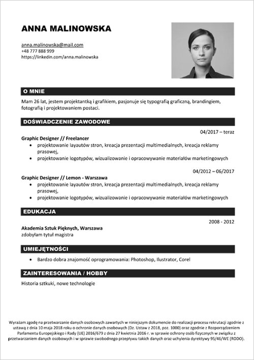 cv wzory kreator do formatu pdf picture to pin on pinterest